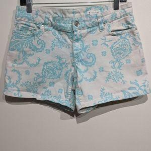 Club Monaco |Paisley Denim Shorts